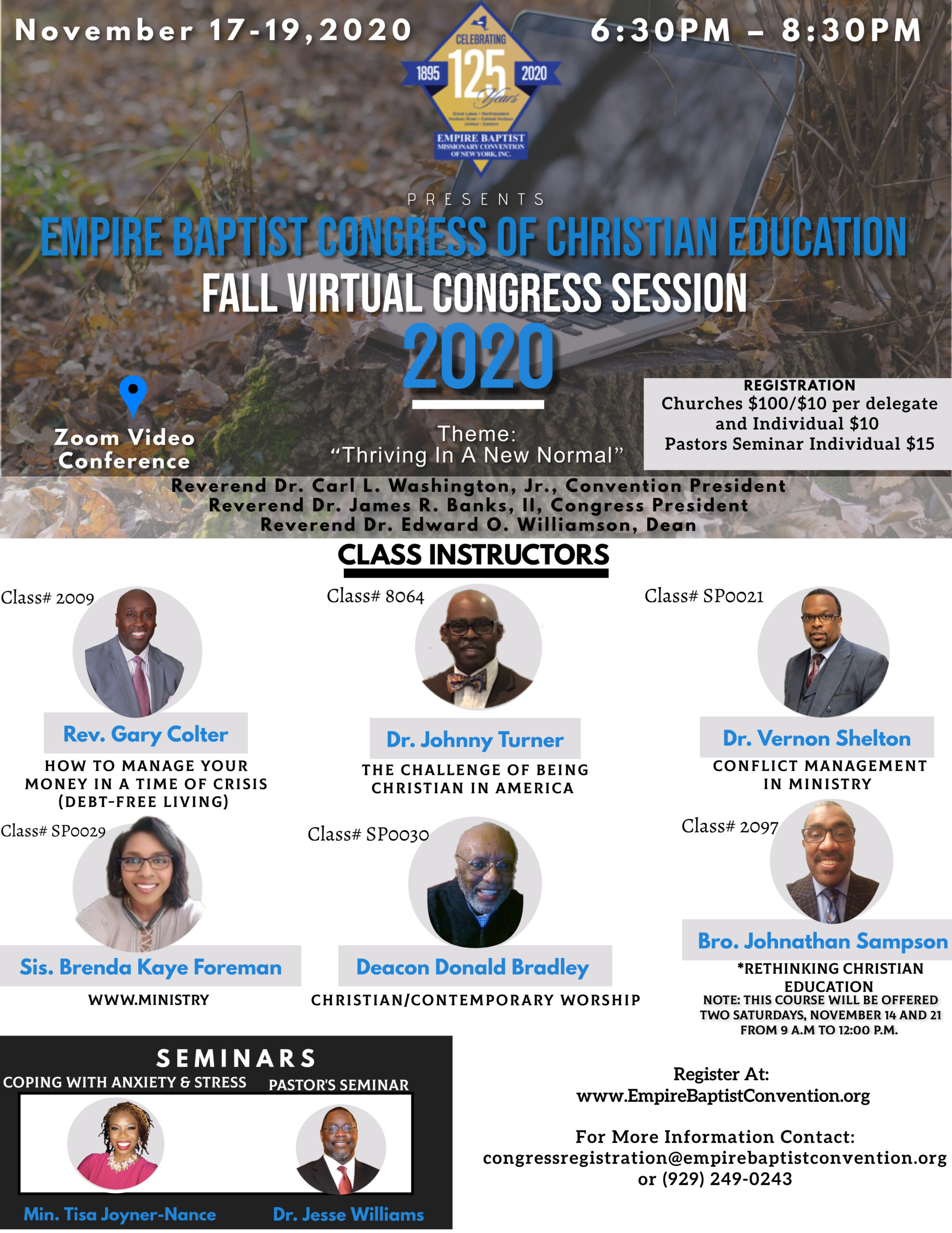 Empire Baptist Fall Virtual Congress Session